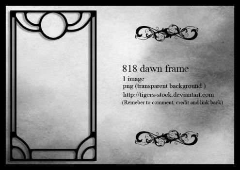 818 Dawn Frame by Tigers-stock