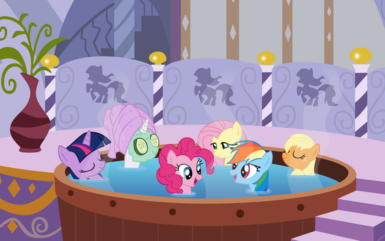 Ponies Chilling at the Spa by Daniel120