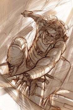 Winter Soldier - The Warrior in Pain - Sketch by Lehanan