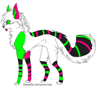 Green,Pink, and Grey Dog ..::CLOSED::.. by love-the-adopts