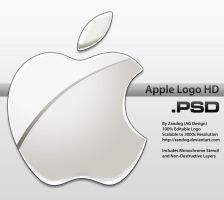 Apple Logo HD .PSD by zandog