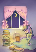 Reading at midnight by conbudou