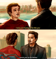 Peter and Tony by punkeduppirate