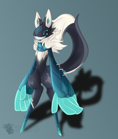 AT: Teal the Scarfox by TheHumanHeart