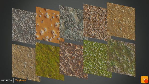 Free Textures Pack 68 by Yughues