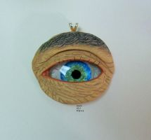 WIP # 8 Polymer clay and glass gem eye by TinyAna