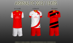 Arsenal FC 2012 / 13 Kits by napolion06