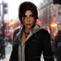 Rise Of The Tomb Raider: In The City by Irishhips