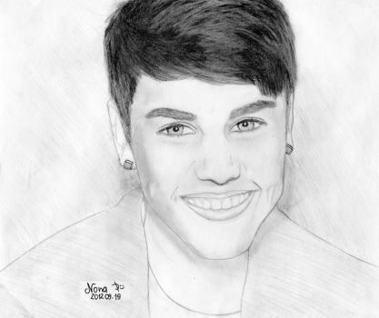 My Drawing of Justin Bieber by NonaImagine
