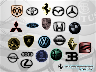 22 Car Brand Photoshop Brushes by Driosooo