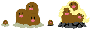 Diglett and Dugtrio Base