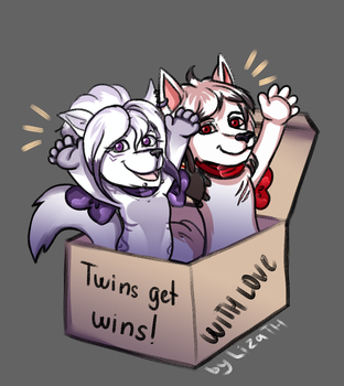 Twins get wins by lizathehedgehog