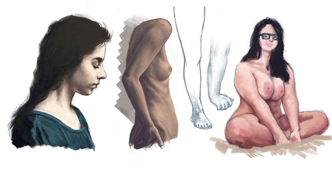 Human and light studies/speedpaints by Korpinarhi