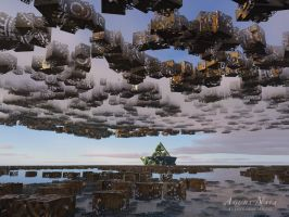 the land of floating cubes by Agura-Nata