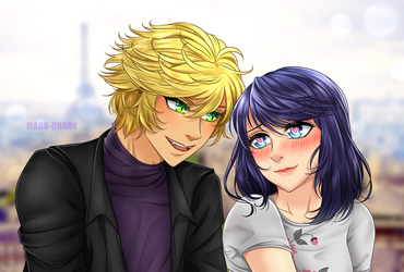 Commission: Adrien and Marinette by manu-chann