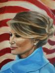 Melania ~ Detail of  [The Inauguration of DT] by Maggielet