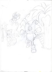 Sonic alterverse practice pencil cover by Amazingartistred