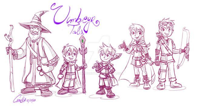 Umbeyer's Tales Characters by RukiaBunny