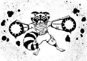 The Day Rocket Found Arm Cannons - Inks by carriehowarth