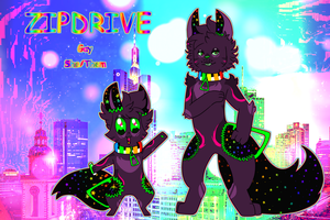 ZipDrive The Sparkledog Ref by LemonMarang