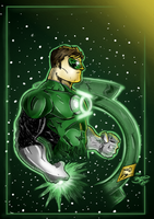 Green Lantern by j2k Re-Colors by BouncieD