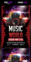 Music World Flyer Template by odindesign