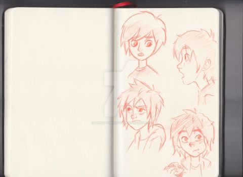 BIG HERO 6: Hiro sketch by LordDanminator