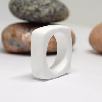 Square white ring by BDSart