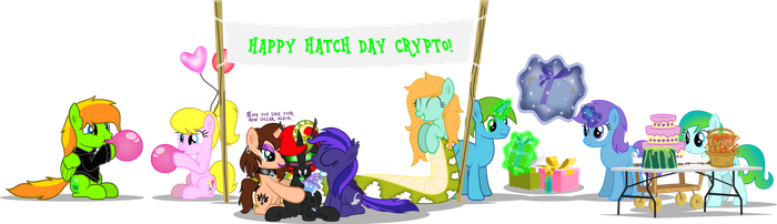 Happy Hatch Day, Crypto! by CyberApple456