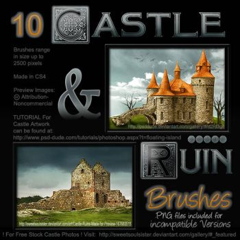 Castle and Ruins Brushes by SweetSoulSister