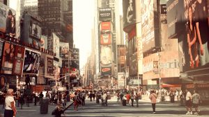 Times Square by day by go4music