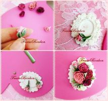 Rococo Roses Broach - steps part#2 by Fraise-Bonbon