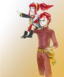 request : Sunako and Gaara by taurustrin