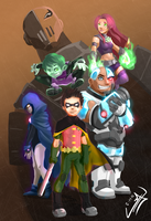 Teen Titans Poster! by wtfisalinh