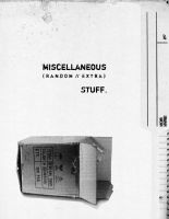 Miscellaneous Yearbook Divider by lovetoast