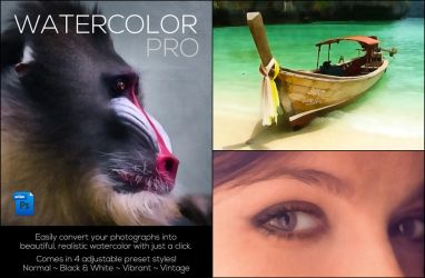 Watercolor Color Action Set by kevinhamil