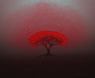 red tree by MorriCold