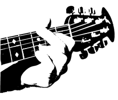 guitar stencil by killingspr