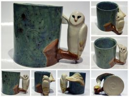 Owl Mug Commission by LRJProductions