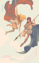 Achilles and Hector by catbishonen
