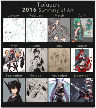 2016 Summary of Art by TofuuuForever