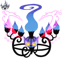 Mega Chandelure 2 by french-teapot