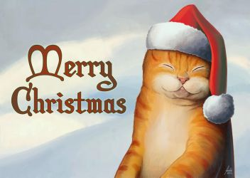 Merry Christmas Cat by fedde