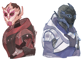 Turian Ladies by Weissidian