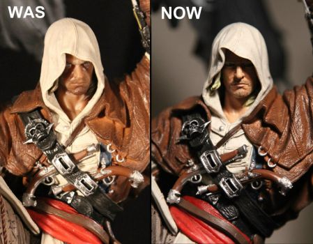 Edward Kenway Face Re-paint (Assassin's Creed IV) by Joker-laugh