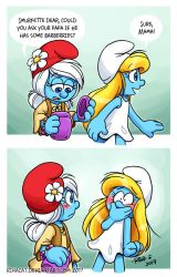 Smurfs: Slipped by rinacat