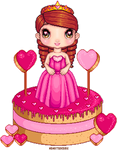 Sweet Valentines day inspired Cake pixels by Heartsdesire-fantasy