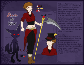 Shada and Drew reference sheet by Gellyh