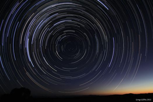 Star Trails At Dusk by CapturingTheNight