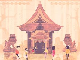 Japan Temple by jamesgilleard